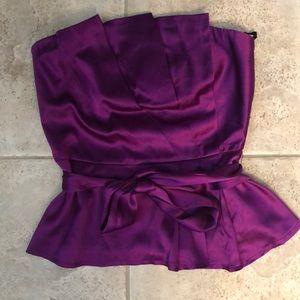 Bebe Purple Satin Bustier